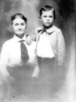 Lucy Mae Emily (Shelton) Davidson with son, Joseph Elmer Davidson - Denton County, Texas