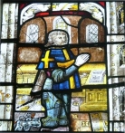 Window Pane in Shelton Church, Shelton, Norfolk, England