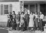 Brenda Lea, Wanda Maxine (Higginson), Connie Faye, and Vancil Winford Shelton; Janice, Clark, Karen Sue, and Bertha (Shelton) Proe; Roy Raymond and Dortha Maverine (Coats) Shelton; Bonnie Arlene (Shelton), Vicky, and Kenneth Lee Bartch